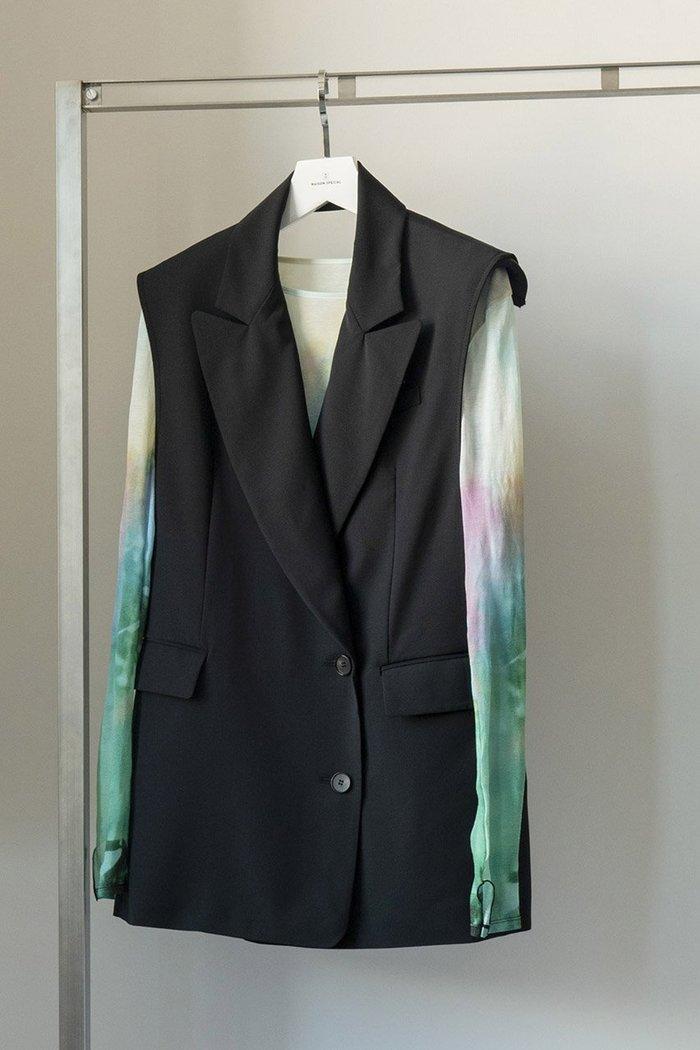 【メゾンスペシャル/MAISON SPECIAL】のバックオープンジレ インテリア・キッズ・メンズ・レディースファッション・服の通販 founy(ファニー) https://founy.com/ ファッション Fashion レディースファッション WOMEN アウター Coat Outerwear ジャケット Jackets キュプラ クラシカル ジャケット ダブル ベスト マニッシュ |ID: prp329100001314919 ipo3291000000006073363