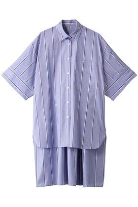 【ル フィル/LE PHIL】のイージーケアブロードロングシャツ 人気、トレンドファッション・服の通販 founy(ファニー) ファッション Fashion レディースファッション WOMEN トップス・カットソー Tops/Tshirt シャツ/ブラウス Shirts/Blouses スキッパー ストライプ スリット スリーブ デコルテ バランス リラックス ロング ワイド |ID:prp329100001422237