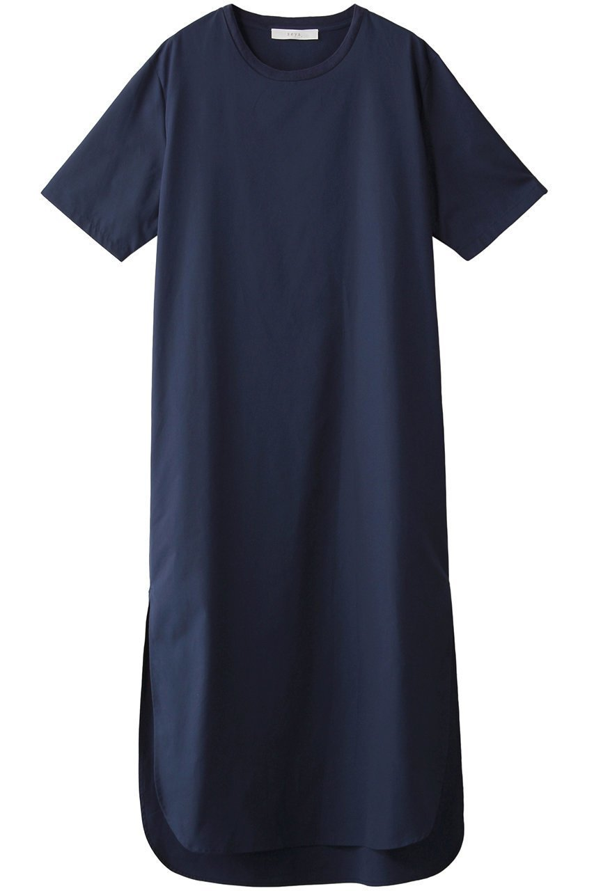 【ウィムガゼット/Whim Gazette】の【seya.】コットンシャツTワンピース インテリア・キッズ・メンズ・レディースファッション・服の通販 founy(ファニー)  ファッション Fashion レディースファッション WOMEN ワンピース Dress スリット ロング ブルー ID: prp329100001477545 ipo3291000000007166354