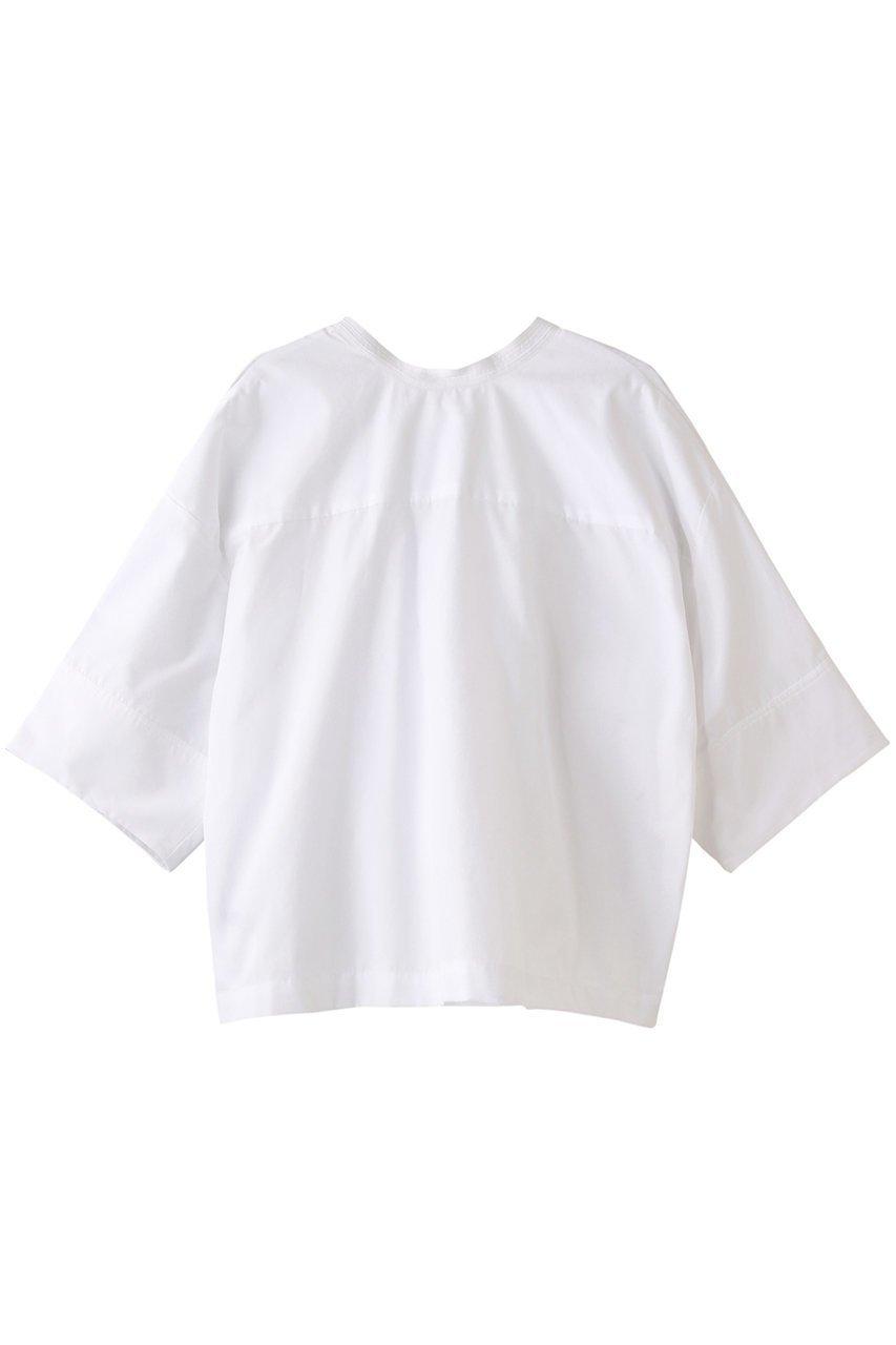 【マルティニーク/martinique】のハーフスリーブ2wayコットンシャツ インテリア・キッズ・メンズ・レディースファッション・服の通販 founy(ファニー)  ファッション Fashion レディースファッション WOMEN トップス・カットソー Tops/Tshirt シャツ/ブラウス Shirts/Blouses S/S・春夏 SS・Spring/Summer ショート シンプル スリーブ ハーフ ボックス リボン 半袖 春 Spring ホワイト|ID: prp329100001477567 ipo3291000000007166415