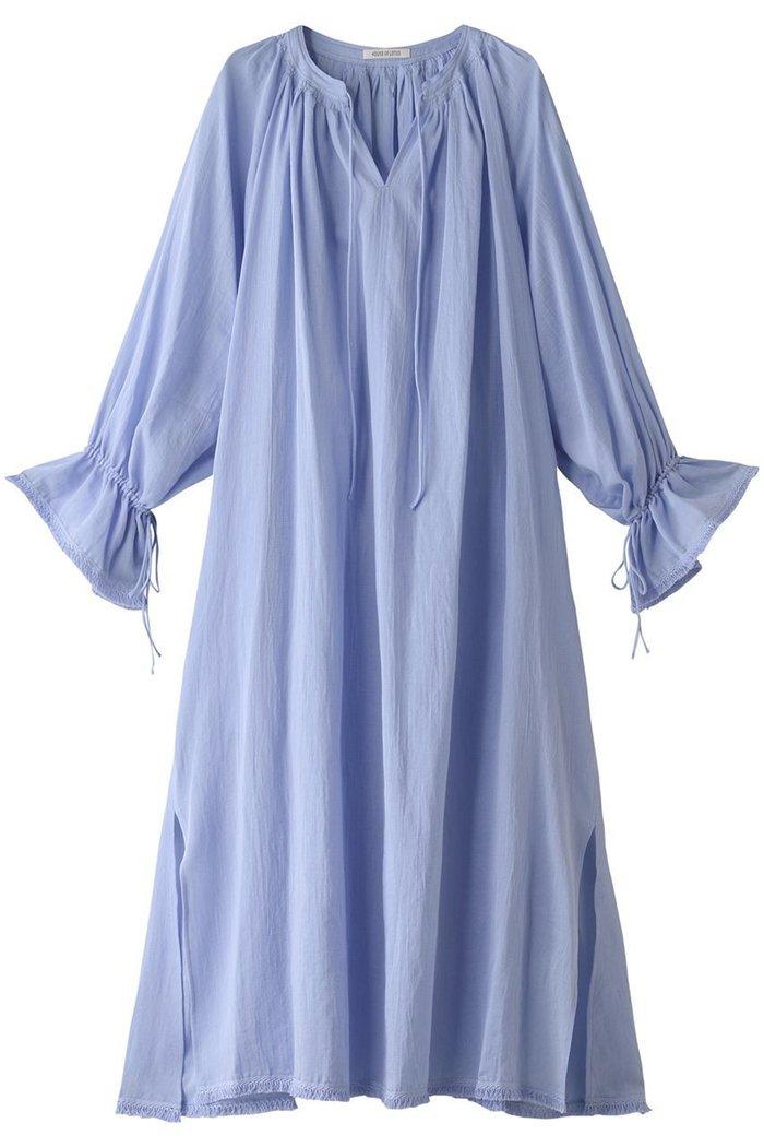 【ハウス オブ ロータス/HOUSE OF LOTUS】のフリンジギャザーワンピース インテリア・キッズ・メンズ・レディースファッション・服の通販 founy(ファニー) https://founy.com/ ファッション Fashion レディースファッション WOMEN ワンピース Dress スリット フリンジ リボン ロング |ID: prp329100001484079 ipo3291000000007198979