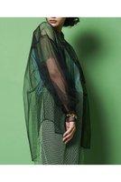 【メゾンスペシャル/MAISON SPECIAL】のソフトチュールシャツ レディースファッション・服の通販 founy(ファニー) ファッション Fashion レディースファッション WOMEN トップス・カットソー Tops/Tshirt シャツ/ブラウス Shirts/Blouses ギャザー シアー スリーブ チュール ロング ワイド 春 Spring |ID:prp329100001490590
