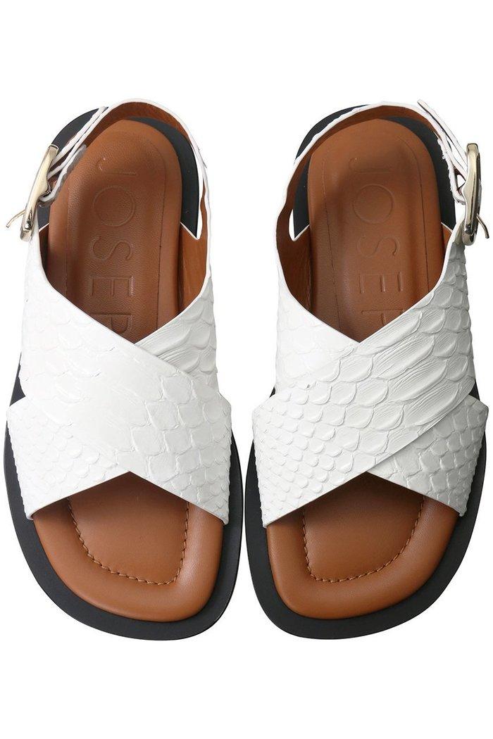 【ジョゼフ/JOSEPH】のスネーク型押しクロスベルトサンダル インテリア・キッズ・メンズ・レディースファッション・服の通販 founy(ファニー) https://founy.com/ ファッション Fashion レディースファッション WOMEN ベルト Belts クッション サンダル デニム  ID: prp329100001580580 ipo3291000000009188209