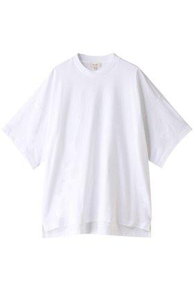 【ブラミンク/BLAMINK】のコットンクルーネックオーバースリーブTシャツ 人気、トレンドファッション・服の通販 founy(ファニー) ファッション Fashion レディースファッション WOMEN トップス・カットソー Tops/Tshirt シャツ/ブラウス Shirts/Blouses ロング / Tシャツ T-Shirts シンプル 再入荷 Restock/Back in Stock/Re Arrival 半袖 |ID:prp329100001590363