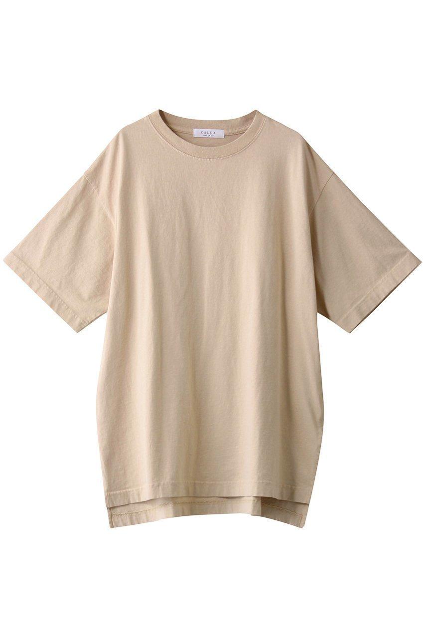 【ガリャルダガランテ/GALLARDAGALANTE】の【CALUX】オーバーサイズTシャツ/別注 インテリア・キッズ・メンズ・レディースファッション・服の通販 founy(ファニー)  ファッション Fashion レディースファッション WOMEN トップス・カットソー Tops/Tshirt シャツ/ブラウス Shirts/Blouses ロング / Tシャツ T-Shirts インナー シンプル スリット 別注 定番 Standard ライトベージュ|ID: prp329100001590370 ipo3291000000009187664