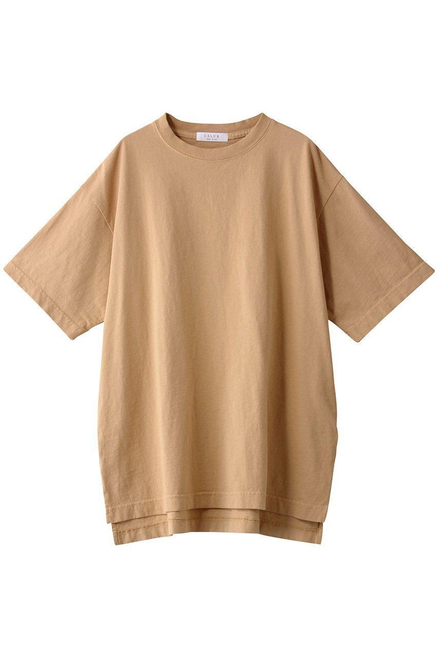 【ガリャルダガランテ/GALLARDAGALANTE】の【CALUX】オーバーサイズTシャツ/別注 インテリア・キッズ・メンズ・レディースファッション・服の通販 founy(ファニー)  ファッション Fashion レディースファッション WOMEN トップス・カットソー Tops/Tshirt シャツ/ブラウス Shirts/Blouses ロング / Tシャツ T-Shirts インナー シンプル スリット 別注 定番 Standard ベージュ|ID: prp329100001590370 ipo3291000000009187667