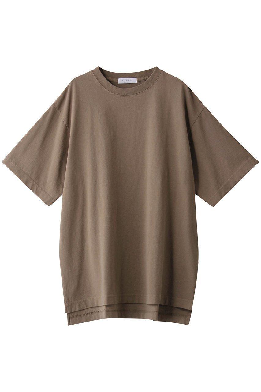 【ガリャルダガランテ/GALLARDAGALANTE】の【CALUX】オーバーサイズTシャツ/別注 インテリア・キッズ・メンズ・レディースファッション・服の通販 founy(ファニー)  ファッション Fashion レディースファッション WOMEN トップス・カットソー Tops/Tshirt シャツ/ブラウス Shirts/Blouses ロング / Tシャツ T-Shirts インナー シンプル スリット 別注 定番 Standard モカ|ID: prp329100001590370 ipo3291000000009187671