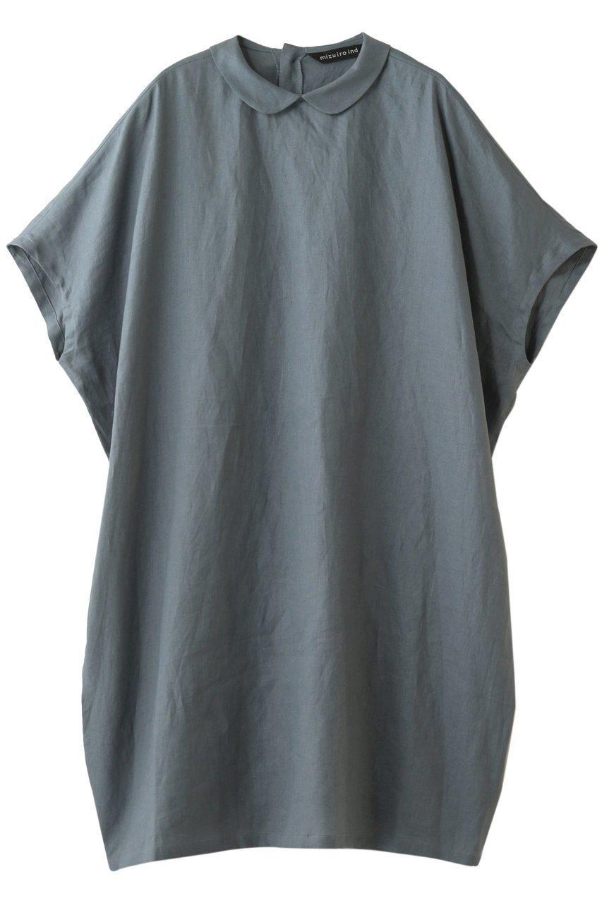 【ミズイロ インド/mizuiro ind】のシャツカラーコクーンワイドワンピース インテリア・キッズ・メンズ・レディースファッション・服の通販 founy(ファニー)  ファッション Fashion レディースファッション WOMEN ワンピース Dress サマー リネン レギンス ワイド ライトブルー|ID: prp329100001599799 ipo3291000000007934480