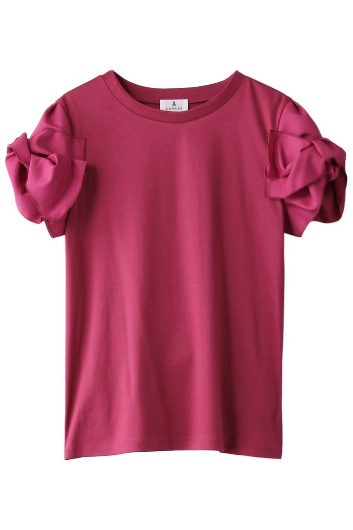 【ランバン オン ブルー/LANVIN en Bleu】のグログランスリーブTEE インテリア・キッズ・メンズ・レディースファッション・服の通販 founy(ファニー) https://founy.com/ ファッション Fashion レディースファッション WOMEN トップス・カットソー Tops/Tshirt シャツ/ブラウス Shirts/Blouses ロング / Tシャツ T-Shirts カットソー Cut and Sewn グログラン ショート スリーブ フェミニン リボン |ID: prp329100001620478 ipo3291000000008112255
