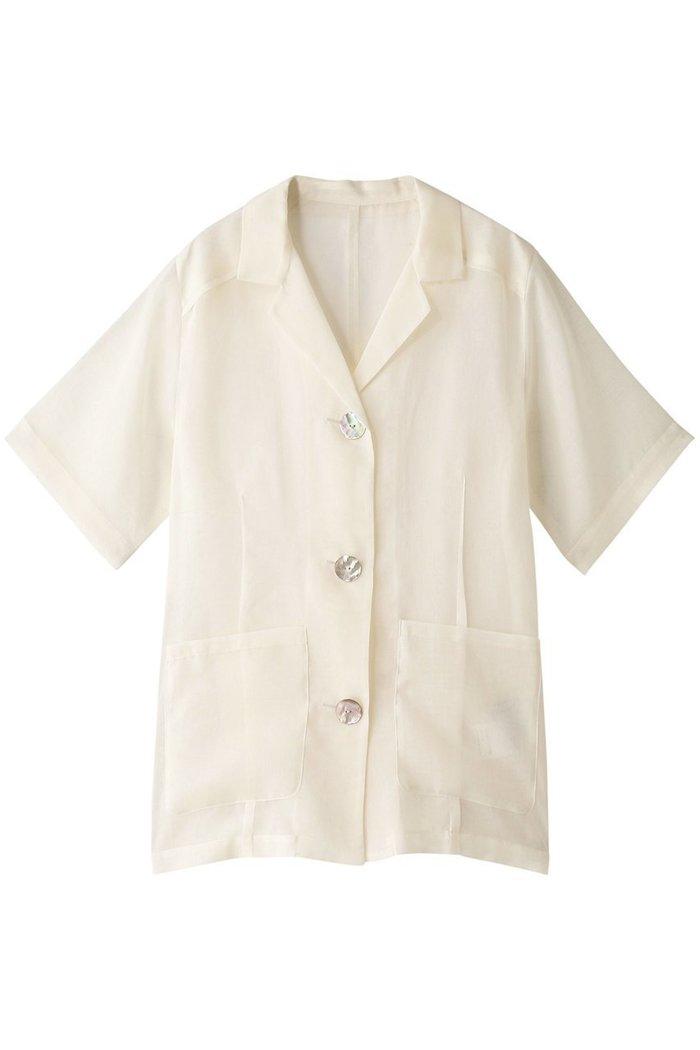 【メゾンスペシャル/MAISON SPECIAL】のハーフスリーブシアーシャツジャケット インテリア・キッズ・メンズ・レディースファッション・服の通販 founy(ファニー) https://founy.com/ ファッション Fashion レディースファッション WOMEN アウター Coat Outerwear ジャケット Jackets シアー ショート ジャケット スリーブ トレンド ベーシック 半袖 夏 Summer  ID: prp329100001629114 ipo3291000000008163464