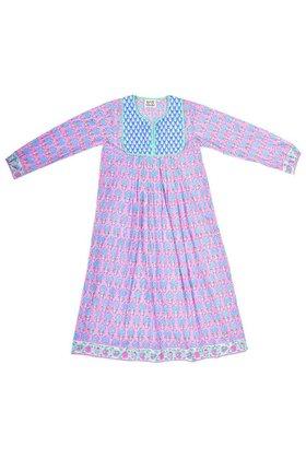 【エスゼット ブロックプリント/SZ Blockprints】のKITY DRESS PINEAPPLE プリントコットンワンピース 人気、トレンドファッション・服の通販 founy(ファニー) ファッション Fashion レディースファッション WOMEN ワンピース Dress ドレス Party Dresses インド ハンド ブロック プリント ロング |ID:prp329100001634202
