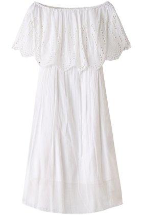 【トロワズィエムチャコ/troisieme CHACO】のコットンボイル刺繍オフショルダーワンピース 人気、トレンドファッション・服の通販 founy(ファニー) ファッション Fashion レディースファッション WOMEN ワンピース Dress オフショルダーワンピース・ドレス Off The Shoulder Dresses エアリー オフショルダー シアー ロング |ID:prp329100001634205