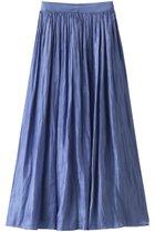 【アルアバイル/allureville】のプラチナサテンギャザースカート ブルー|ID: prp329100001634304 ipo3291000000008199924