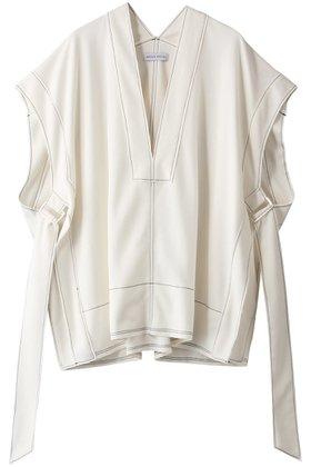 【メゾンスペシャル/MAISON SPECIAL】のリブスムースステッチジレ 人気、トレンドファッション・服の通販 founy(ファニー) ファッション Fashion レディースファッション WOMEN アウター Coat Outerwear トップス・カットソー Tops/Tshirt ベスト/ジレ Gilets/Vests シンプル リボン 再入荷 Restock/Back in Stock/Re Arrival  ID:prp329100001743257