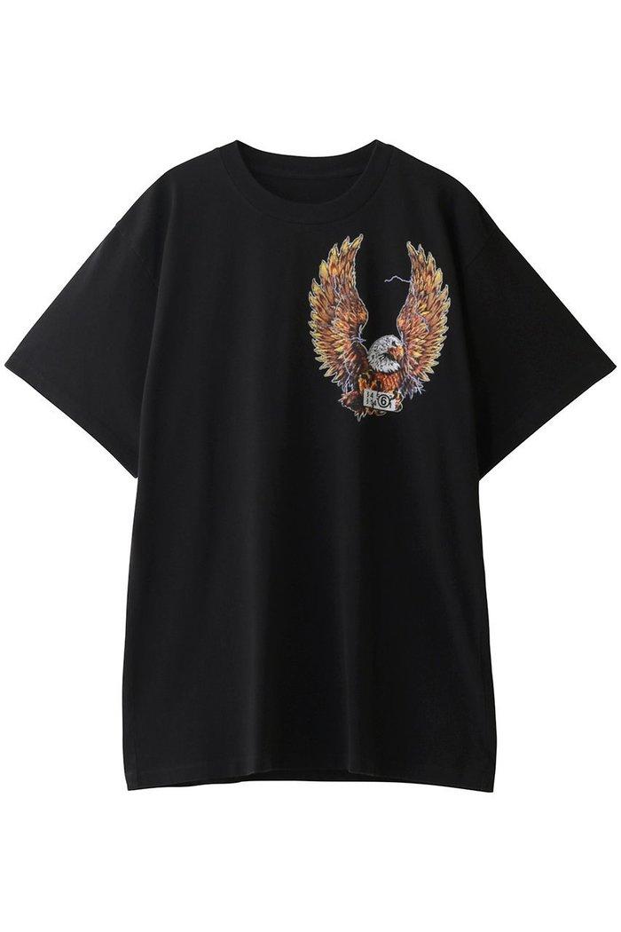 【エムエム6 メゾン マルタン マルジェラ/MM6 Maison Martin Margiela】のプリントTシャツ インテリア・キッズ・メンズ・レディースファッション・服の通販 founy(ファニー) https://founy.com/ ファッション Fashion レディースファッション WOMEN トップス・カットソー Tops/Tshirt シャツ/ブラウス Shirts/Blouses ロング / Tシャツ T-Shirts カットソー Cut and Sewn ショート スリーブ ビッグ プリント |ID: prp329100001800959 ipo3291000000009834584