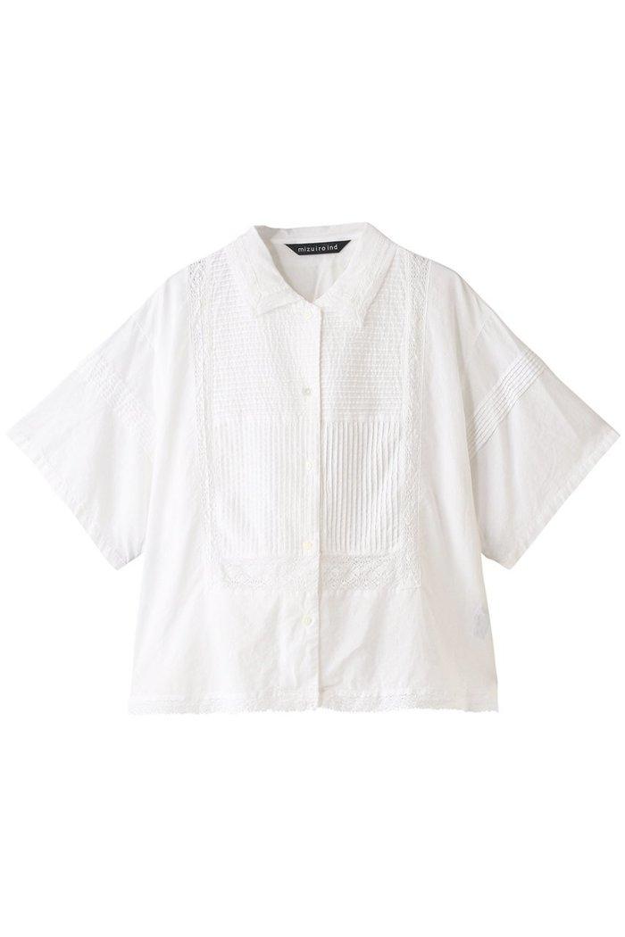 【ミズイロ インド/mizuiro ind】のレースパターンシャツ インテリア・キッズ・メンズ・レディースファッション・服の通販 founy(ファニー) https://founy.com/ ファッション Fashion レディースファッション WOMEN トップス・カットソー Tops/Tshirt シャツ/ブラウス Shirts/Blouses ショート スリーブ レース 半袖 |ID: prp329100001838822 ipo3291000000010333985