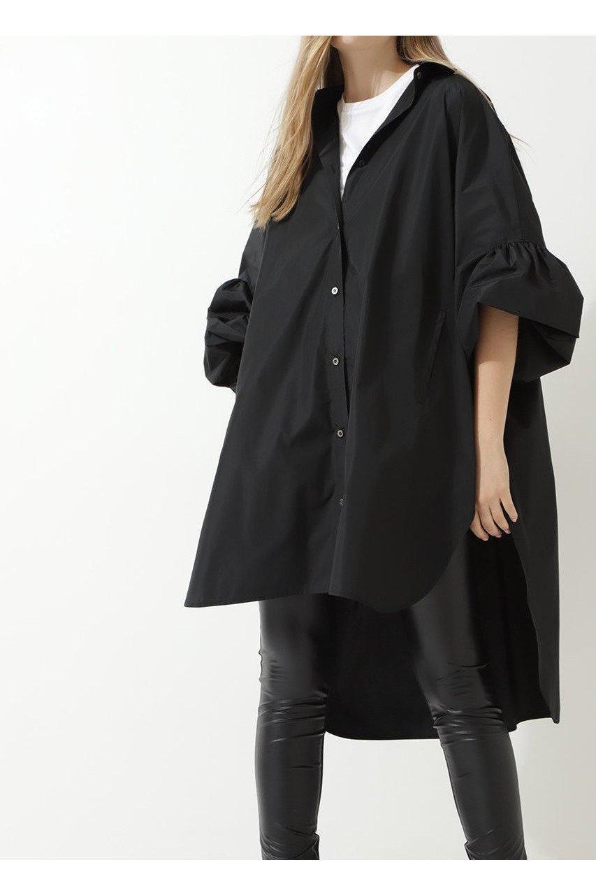 【ル フィル/LE PHIL】のメモリータフタオーバーサイズブラウス インテリア・キッズ・メンズ・レディースファッション・服の通販 founy(ファニー)  ファッション Fashion レディースファッション WOMEN トップス・カットソー Tops/Tshirt シャツ/ブラウス Shirts/Blouses 2020年 2020 2020-2021秋冬・A/W AW・Autumn/Winter・FW・Fall-Winter/2020-2021 2021年 2021 2021-2022秋冬・A/W AW・Autumn/Winter・FW・Fall-Winter・2021-2022 A/W・秋冬 AW・Autumn/Winter・FW・Fall-Winter おすすめ Recommend ギャザー スリーブ タフタ ドレス フォルム レギンス ロング 羽織 ブラック|ID: prp329100001859420 ipo3291000000010609732