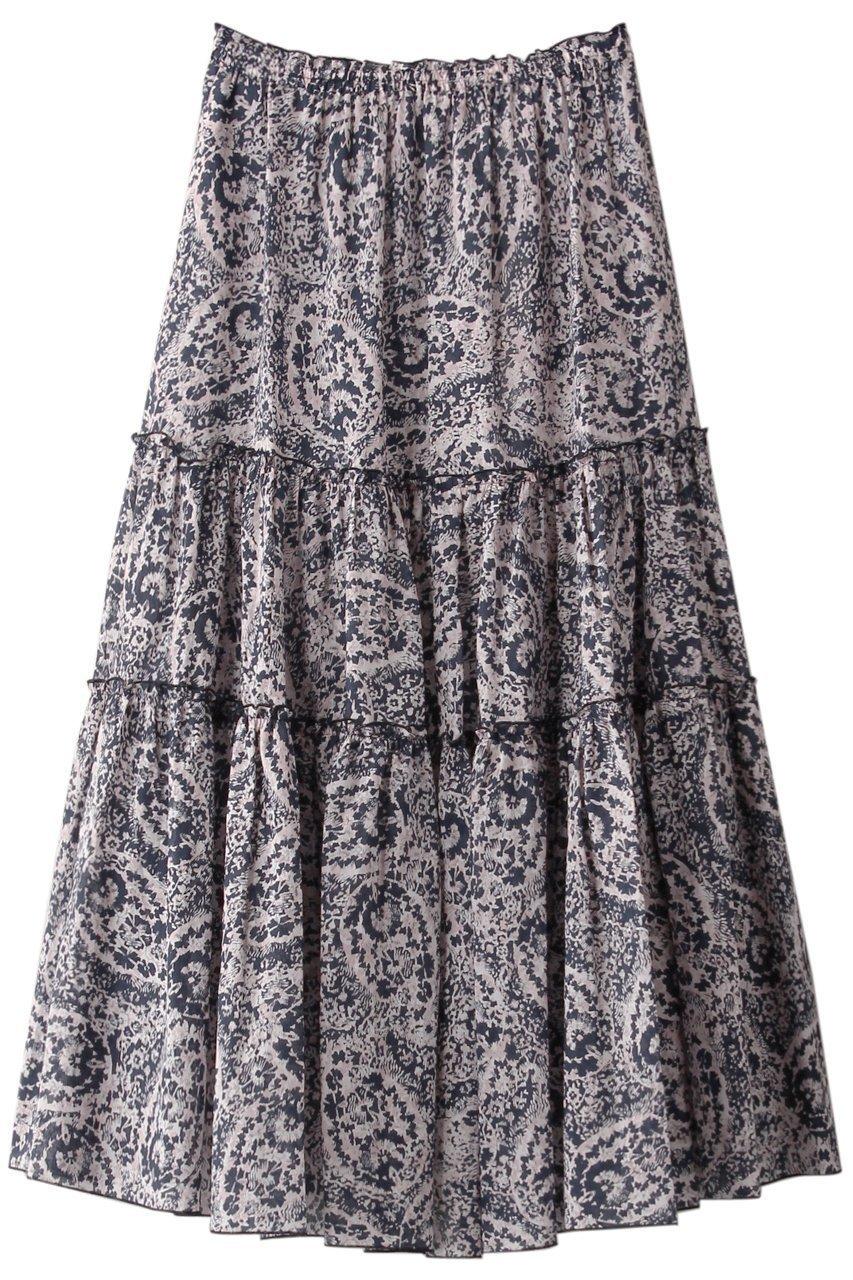 【ハウス オブ ロータス/HOUSE OF LOTUS】のペイズリープリントティアードスカート インテリア・キッズ・メンズ・レディースファッション・服の通販 founy(ファニー)  ファッション Fashion レディースファッション WOMEN スカート Skirt ティアードスカート Tiered Skirts ロングスカート Long Skirt 2020年 2020 2020-2021秋冬・A/W AW・Autumn/Winter・FW・Fall-Winter/2020-2021 2021年 2021 2021-2022秋冬・A/W AW・Autumn/Winter・FW・Fall-Winter・2021-2022 A/W・秋冬 AW・Autumn/Winter・FW・Fall-Winter ティアード ペイズリー モザイク ロング 再入荷 Restock/Back in Stock/Re Arrival 夏 Summer ネイビー|ID: prp329100001859431 ipo3291000000010609772