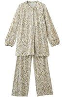 【キッドブルー/KID BLUE】のCM天竺フォールブルームパジャマ 人気、トレンドファッション・服の通販 founy(ファニー) ファッション Fashion レディースファッション WOMEN トップス・カットソー Tops/Tshirt とろみ パジャマ フェミニン フラワー フリル |ID:prp329100001873346