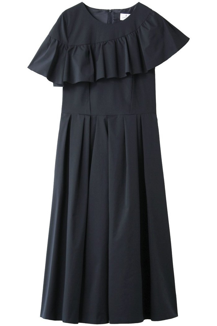 【ランバン オン ブルー/LANVIN en Bleu】のアシメフリルワンピース インテリア・キッズ・メンズ・レディースファッション・服の通販 founy(ファニー) https://founy.com/ ファッション Fashion レディースファッション WOMEN ワンピース Dress チュニック Tunic アシメトリー チュニック パーティ フェミニン フリル フレア ロング |ID: prp329100001883221 ipo3291000000010907859