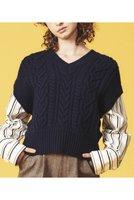 【ランバン オン ブルー/LANVIN en Bleu】のドッキングアランニット 人気、トレンドファッション・服の通販 founy(ファニー) ファッション Fashion レディースファッション WOMEN トップス・カットソー Tops/Tshirt ニット Knit Tops プルオーバー Pullover おすすめ Recommend ストライプ トレンド ドッキング ベスト ボトム マニッシュ ルーズ |ID:prp329100001883223