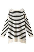 【ティッカ/TICCA】の【UNISEX】ニットバスクシャツ オフホワイト×ブラック|ID: prp329100001883332 ipo3291000000010908380