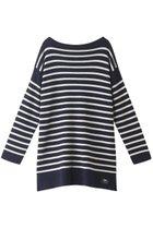 【ティッカ/TICCA】の【UNISEX】ニットバスクシャツ ネイビー×オフホワイト|ID: prp329100001883332 ipo3291000000010908381