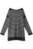 【ティッカ/TICCA】の【UNISEX】ニットバスクシャツ ブラック×オフホワイト|ID: prp329100001883332 ipo3291000000010908382
