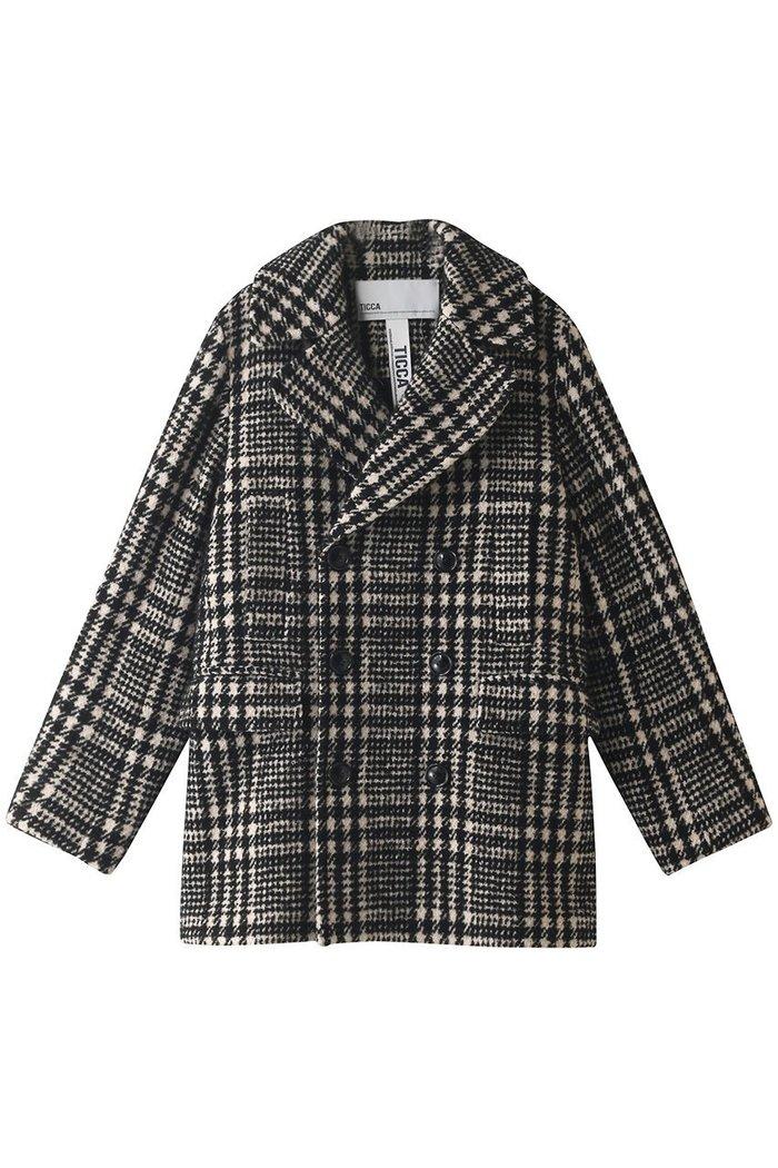 【ティッカ/TICCA】のチェックピーコート インテリア・キッズ・メンズ・レディースファッション・服の通販 founy(ファニー) https://founy.com/ ファッション Fashion レディースファッション WOMEN アウター Coat Outerwear コート Coats 2020年 2020 2020-2021秋冬・A/W AW・Autumn/Winter・FW・Fall-Winter/2020-2021 2021年 2021 2021-2022秋冬・A/W AW・Autumn/Winter・FW・Fall-Winter・2021-2022 A/W・秋冬 AW・Autumn/Winter・FW・Fall-Winter ショート スタンド チェック ポケット モノトーン |ID: prp329100001883337 ipo3291000000010908397