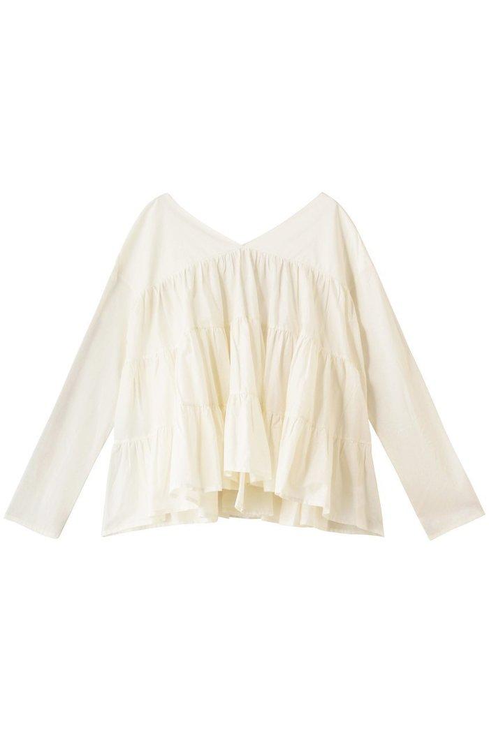 【マーレット/MERLETTE】のSIDONIA 前後Vネックティアードブラウス インテリア・キッズ・メンズ・レディースファッション・服の通販 founy(ファニー) https://founy.com/ ファッション Fashion レディースファッション WOMEN トップス・カットソー Tops/Tshirt シャツ/ブラウス Shirts/Blouses Vネック V-Neck 2020年 2020 2020-2021秋冬・A/W AW・Autumn/Winter・FW・Fall-Winter/2020-2021 2021年 2021 2021-2022秋冬・A/W AW・Autumn/Winter・FW・Fall-Winter・2021-2022 A/W・秋冬 AW・Autumn/Winter・FW・Fall-Winter スリーブ ロング |ID: prp329100001887087 ipo3291000000010943697