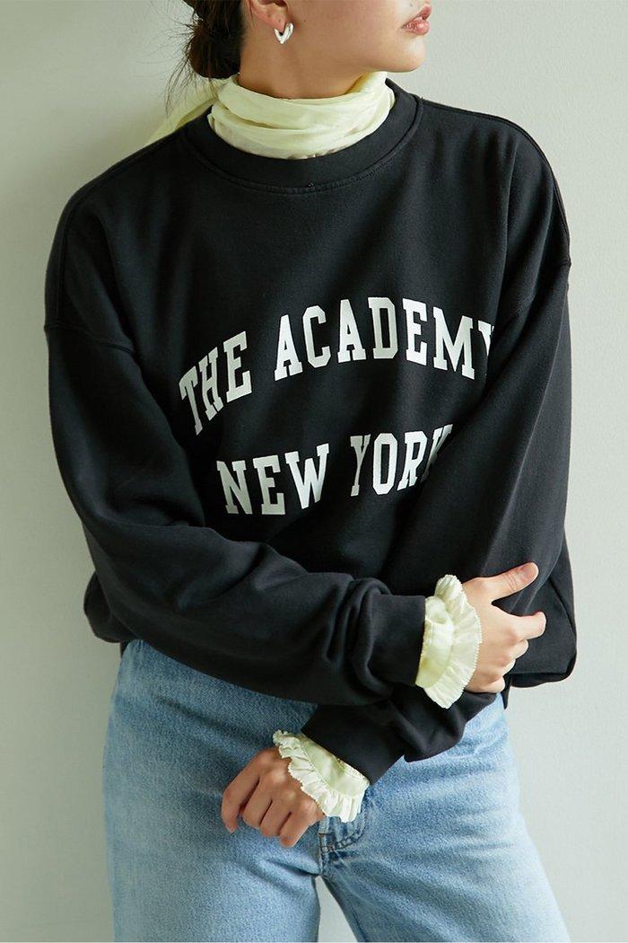 【ガリャルダガランテ/GALLARDAGALANTE】の【The Academy New York】Crew Neck Sweatshirt インテリア・キッズ・メンズ・レディースファッション・服の通販 founy(ファニー) https://founy.com/ ファッション Fashion レディースファッション WOMEN トップス・カットソー Tops/Tshirt シャツ/ブラウス Shirts/Blouses パーカ Sweats ロング / Tシャツ T-Shirts スウェット Sweat カットソー Cut and Sewn ショルダー スウェット デニム ドロップ 定番 Standard ニューヨーク プリント リラックス A/W・秋冬 AW・Autumn/Winter・FW・Fall-Winter 2020年 2020 2021年 2021 2020-2021秋冬・A/W AW・Autumn/Winter・FW・Fall-Winter/2020-2021 2021-2022秋冬・A/W AW・Autumn/Winter・FW・Fall-Winter・2021-2022 |ID: prp329100001887159 ipo3291000000010943899
