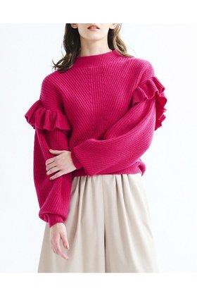 【ランバン オン ブルー/LANVIN en Bleu】のボリュームスリーブフリルニット 人気、トレンドファッション・服の通販 founy(ファニー) ファッション Fashion レディースファッション WOMEN トップス・カットソー Tops/Tshirt ニット Knit Tops プルオーバー Pullover ボリュームスリーブ / フリル袖 Volume Sleeve おすすめ Recommend ハイネック バランス フリル 冬 Winter |ID:prp329100001973113