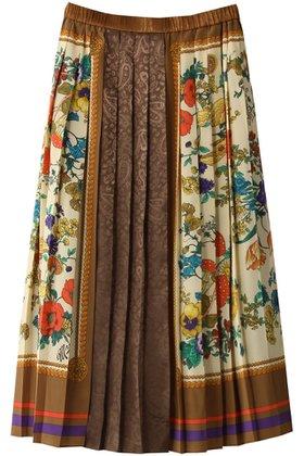 【ミュベール/MUVEIL】のスカーフプリントスカート 人気、トレンドファッション・服の通販 founy(ファニー) ファッション Fashion レディースファッション WOMEN スカート Skirt スカーフ フラワー プリント プリーツ モチーフ  ID:prp329100001973336