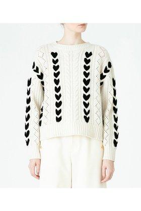 【アルアバイル/allureville】の【LOULOU WILLOUGHBY】リボンケーブルプルオーバー 人気、トレンドファッション・服の通販 founy(ファニー) ファッション Fashion レディースファッション WOMEN トップス・カットソー Tops/Tshirt ニット Knit Tops プルオーバー Pullover バランス リボン |ID:prp329100001980107