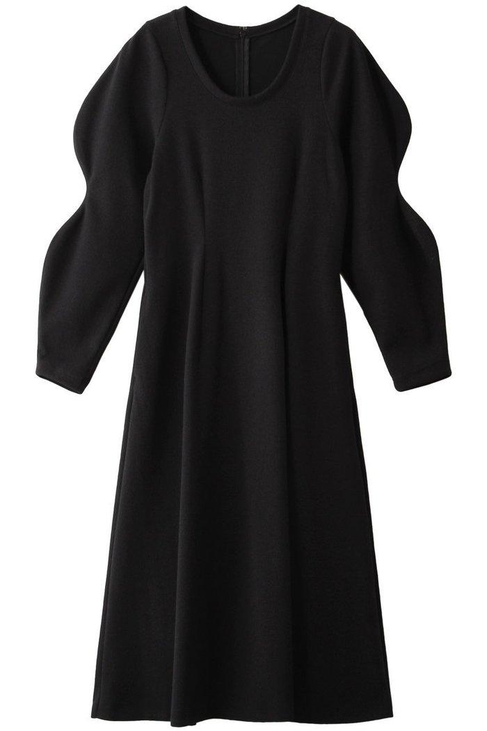 【ルシェル ブルー/LE CIEL BLEU】のスカルプテッドスリーブドレス インテリア・キッズ・メンズ・レディースファッション・服の通販 founy(ファニー) https://founy.com/ ファッション Fashion レディースファッション WOMEN ワンピース Dress ドレス Party Dresses チュニック Tunic ウェーブ シェイプ チュニック ロング |ID: prp329100001985799 ipo3291000000011902519