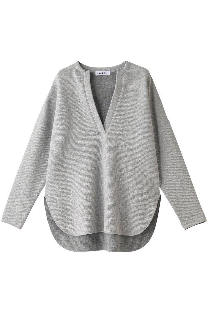 【サクラ/SACRA】のウールコットン インテリア・キッズ・メンズ・レディースファッション・服の通販 founy(ファニー) https://founy.com/ ファッション Fashion レディースファッション WOMEN トップス・カットソー Tops/Tshirt ニット Knit Tops プルオーバー Pullover ヘムライン ラウンド |ID: prp329100002041751 ipo3291000000012465398