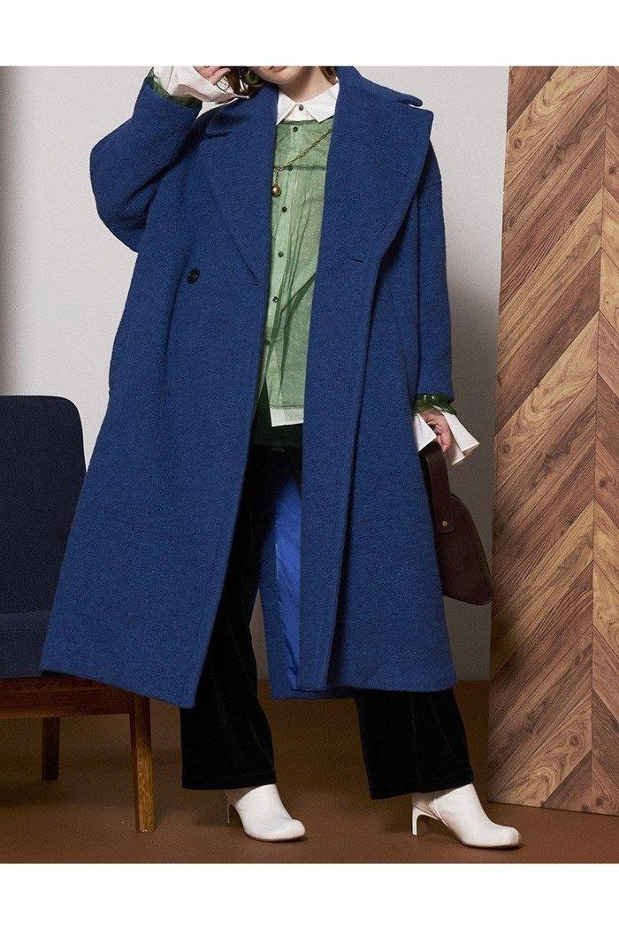 【メゾンスペシャル/MAISON SPECIAL】のシェットランドウール中綿コート インテリア・キッズ・メンズ・レディースファッション・服の通販 founy(ファニー) https://founy.com/ ファッション Fashion レディースファッション WOMEN アウター Coat Outerwear コート Coats クラシカル ダブル チェスターコート リラックス ロング  ID: prp329100002054091 ipo3291000000012588761