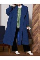 【メゾンスペシャル/MAISON SPECIAL】のシェットランドウール中綿コート BLU(ブルー) ID: prp329100002054091 ipo3291000000012588762