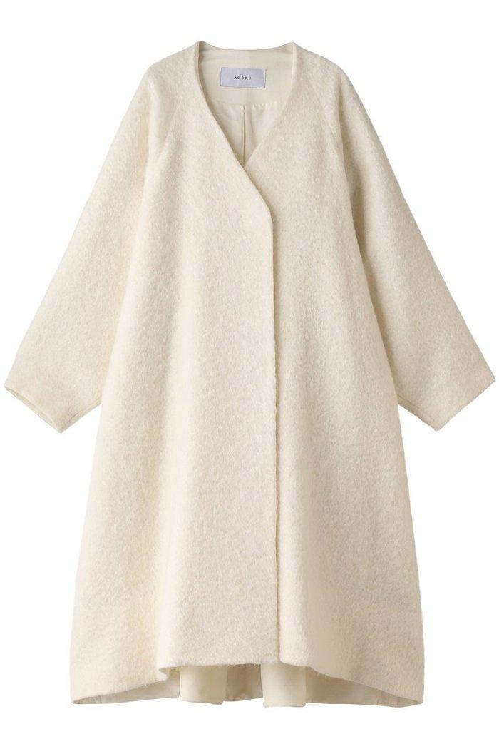 【アドーア/ADORE】のシャギーモヘアコート インテリア・キッズ・メンズ・レディースファッション・服の通販 founy(ファニー) https://founy.com/ ファッション Fashion レディースファッション WOMEN アウター Coat Outerwear コート Coats A/W・秋冬 AW・Autumn/Winter・FW・Fall-Winter ウェーブ モヘア ループ ロング  ID: prp329100002063378 ipo3291000000012649269