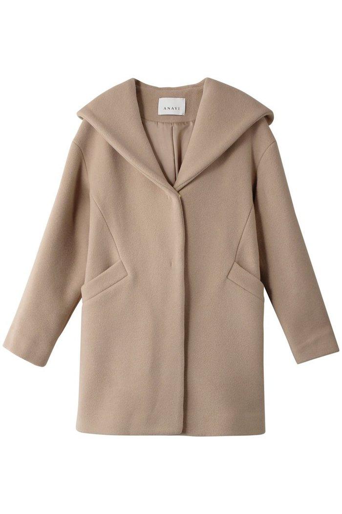 【アナイ/ANAYI】のダブルビーバーフードコート インテリア・キッズ・メンズ・レディースファッション・服の通販 founy(ファニー) https://founy.com/ ファッション Fashion レディースファッション WOMEN アウター Coat Outerwear コート Coats シンプル フェミニン ロング  ID: prp329100002063388 ipo3291000000012649330