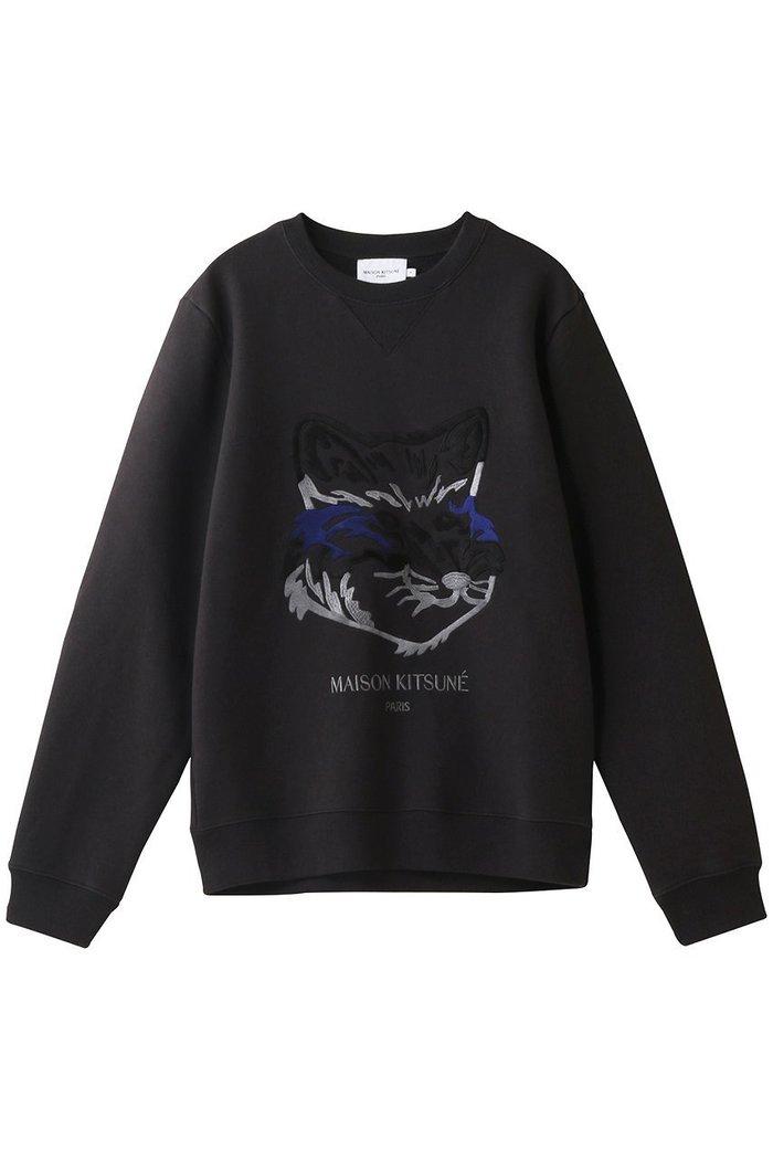 【メゾン キツネ/MAISON KITSUNE】の【UNISEX】BIG FOX EMBROIDERY REGULAR SWEATSHIRT / スウェット インテリア・キッズ・メンズ・レディースファッション・服の通販 founy(ファニー) https://founy.com/ ファッション Fashion レディースファッション WOMEN トップス・カットソー Tops/Tshirt シャツ/ブラウス Shirts/Blouses パーカ Sweats ロング / Tシャツ T-Shirts スウェット Sweat カットソー Cut and Sewn UNISEX スウェット フェイス  ID: prp329100002063396 ipo3291000000012649364