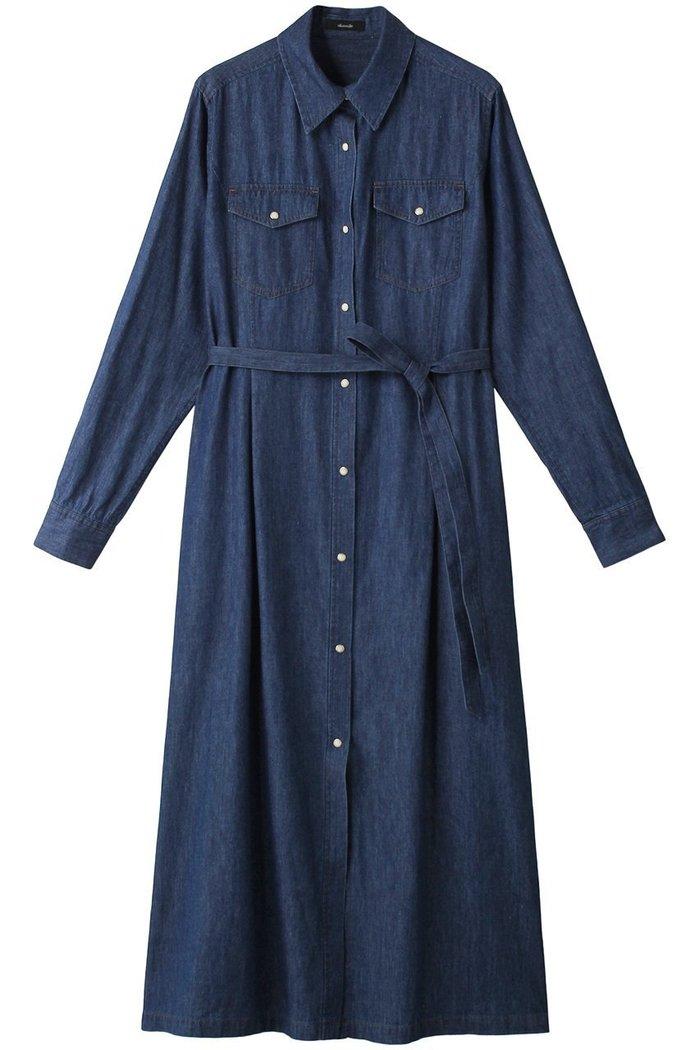 【アルアバイル/allureville】のデニムシェイプシャツワンピース インテリア・キッズ・メンズ・レディースファッション・服の通販 founy(ファニー) https://founy.com/ ファッション Fashion レディースファッション WOMEN ワンピース Dress シャツワンピース Shirt Dresses チュニック Tunic チュニック デニム リラックス ロング |ID: prp329100002065948 ipo3291000000012669684