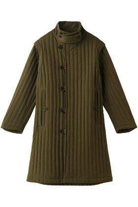 【カオス/Chaos】 SEEALL テクニカルコート人気、トレンドファッション・服の通販 founy(ファニー) ファッション Fashion レディースファッション WOMEN アウター Coat Outerwear コート Coats キルティング シンプル スタンド ストライプ ノースリーブ ロング |ID:prp329100002074090