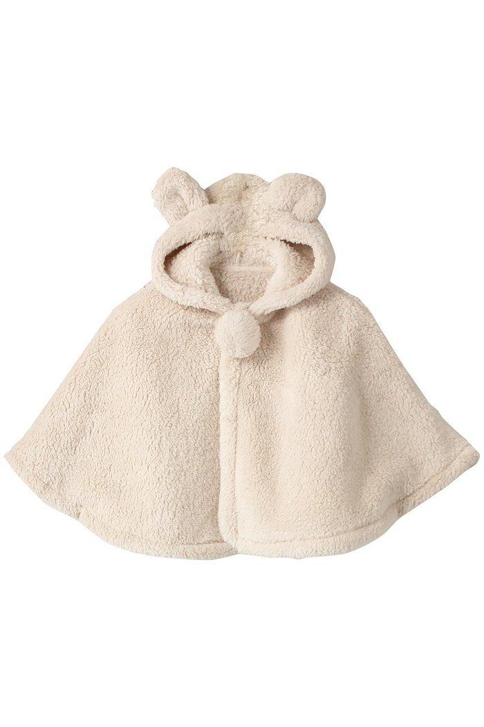 【ポプキンズ/POMPKINS / KIDS】の【BABY】モコモコボア耳付きフードマント インテリア・キッズ・メンズ・レディースファッション・服の通販 founy(ファニー) https://founy.com/ ファッション Fashion キッズファッション KIDS アウター Coat Outerwear /Kids A/W・秋冬 AW・Autumn/Winter・FW・Fall-Winter ベビー  ID: prp329100002074117 ipo3291000000012748383