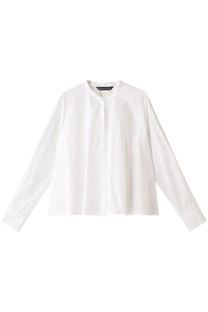 【ミズイロ インド/mizuiro ind】のスタンドカラーフレアシャツ インテリア・キッズ・メンズ・レディースファッション・服の通販 founy(ファニー) https://founy.com/ ファッション Fashion レディースファッション WOMEN トップス・カットソー Tops/Tshirt シャツ/ブラウス Shirts/Blouses シンプル スリーブ フレア ロング  ID: prp329100002074156 ipo3291000000012768174