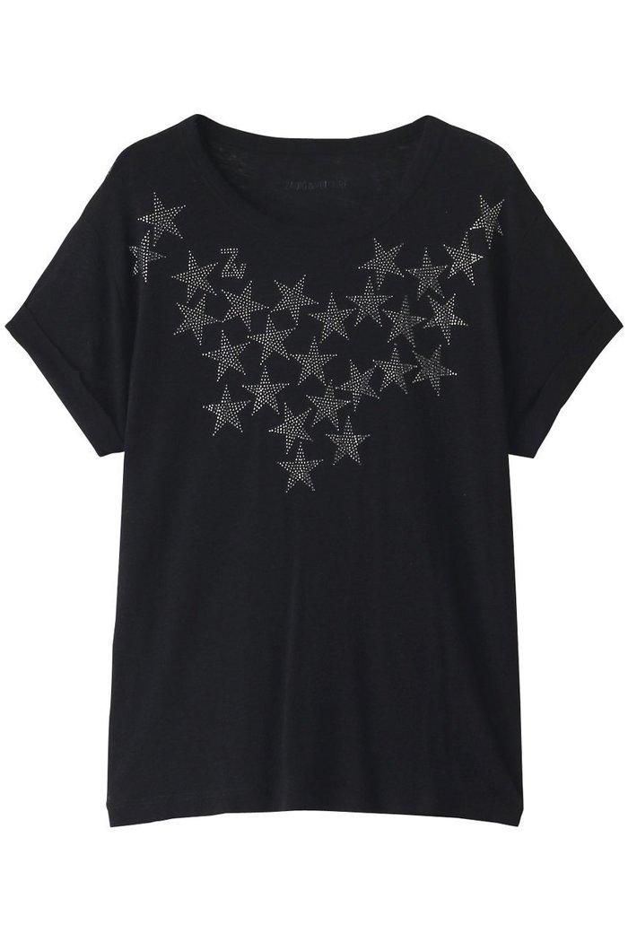 【ザディグ エ ヴォルテール/ZADIG & VOLTAIRE】のANYA STARS STRASS LIN/MODAL T- Tシャツ インテリア・キッズ・メンズ・レディースファッション・服の通販 founy(ファニー) https://founy.com/ ファッション Fashion レディースファッション WOMEN トップス・カットソー Tops/Tshirt シャツ/ブラウス Shirts/Blouses ロング / Tシャツ T-Shirts カットソー Cut and Sewn なめらか ショート スリーブ フォルム フロント モチーフ モノトーン 定番 Standard 無地 |ID: prp329100002074189 ipo3291000000012768202