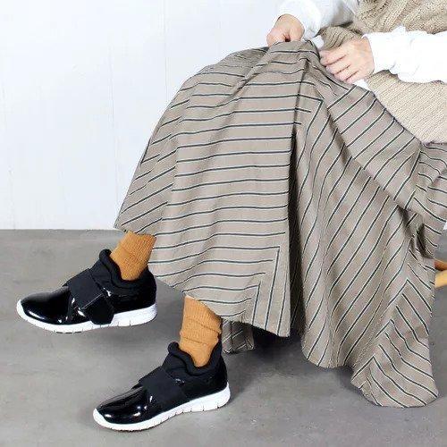 【エンチャンテッド/enchanted】の【晴雨兼用】フロントゴア防水スニーカー インテリア・キッズ・メンズ・レディースファッション・服の通販 founy(ファニー)  ファッション Fashion レディースファッション WOMEN シューズ スニーカー フロント ブラックエナメル|ID: prp329100000204282 ipo3291000000000890480