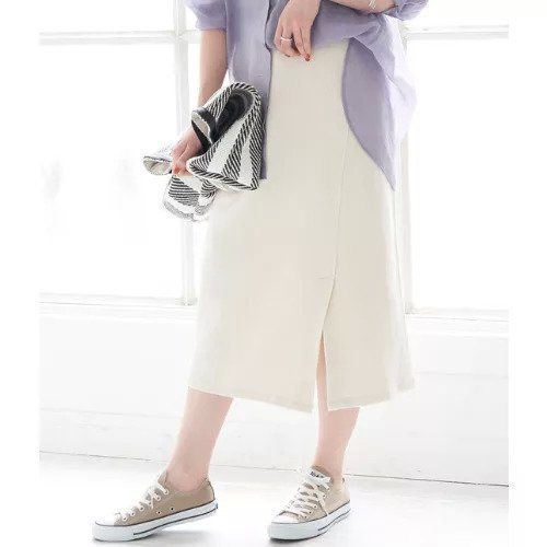 【ロペピクニック/ROPE' PICNIC】の【セットアップ対応】アシメカットスカート インテリア・キッズ・メンズ・レディースファッション・服の通販 founy(ファニー)  ファッション Fashion レディースファッション WOMEN セットアップ Setup スカート Skirt アシンメトリー エレガント シンプル スリット セットアップ バイアス フロント ラップ リラックス キナリ ID: prp329100000277592 ipo3291000000000830616