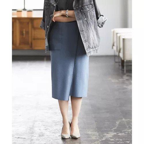 【ガリャルダガランテ/GALLARDAGALANTE】のブークレーパイピングスカート インテリア・キッズ・メンズ・レディースファッション・服の通販 founy(ファニー) ファッション Fashion レディースファッション WOMEN スカート Skirt シンプル デニム フェイクレザー ブルー|ID: prp329100000491677 ipo3291000000001511523