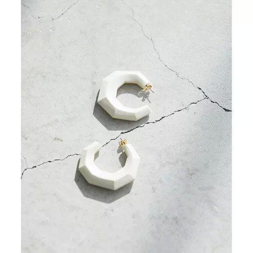 【ガリャルダガランテ/GALLARDAGALANTE】のボリュームウッドフープピアス インテリア・キッズ・メンズ・レディースファッション・服の通販 founy(ファニー)  ファッション Fashion レディースファッション WOMEN ジュエリー Jewelry リング Rings イヤリング Earrings アクセサリー イヤリング シンプル フェイス ホワイト|ID: prp329100000497873 ipo3291000000001534264